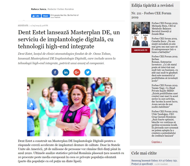 Dent Estet lansează Masterplan DE, un serviciu de implantologie digitală, cu tehnologii high-end integrate